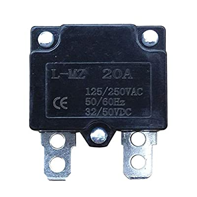 WELLYE 2Pcs 20A 125/250Vac 50Vdc Automatic Reset Relay Fuse Therma Switch Circuit Breaker Current Overload Protector Children Ride On Toy Car Accessories: Toys & Games