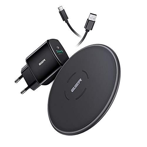 ESR Cargador Inalámbrico Rápido con Adaptador QC 3.0 para iPhone 12/12 Pro/12 Mini/12 Pro Max/SE 2020/11/11 Pro/11 Pro…