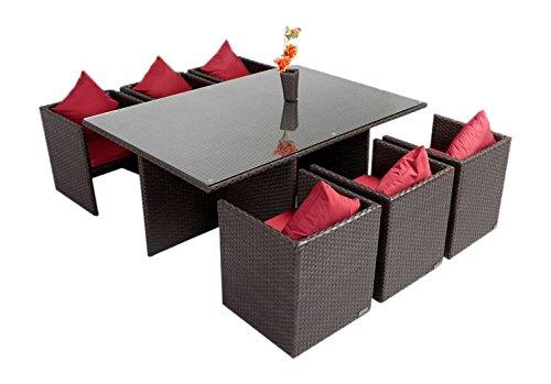 OUTFLEXX Esstischgruppe Aus Polyrattan Stühle Komplett