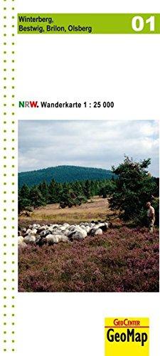 Wanderkarte Nordrhein-Westfalen 01 Winterberg - Bestwig, Brilon, Olsberg 1:25 000 (Geo Map)