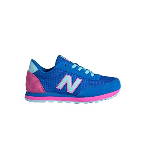New Balance KL501OBY - Zapatillas para niña, color azul / rosa / blanco