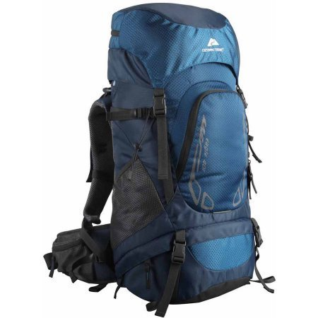 Ozark Trail Hiking Backpack Eagle, 40L, Blue, Hydration Compatible, Durable Poly Fabric Material, Ideal for Heavy Loads for Camping, Hiking, Travel and Other Outdoor Activities, TB2138-40L by Ozark Trail B06XWS7J1Y