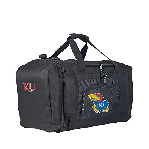 The Northwest Company Officially Licensed NCAA Kansas Jayhawks Roadblock Duffel (Kansas Jayhawks Duffle Bag)