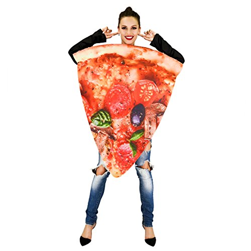 flatwhite Pizza Food Unisex Adult Costume (Slice Pizza) -