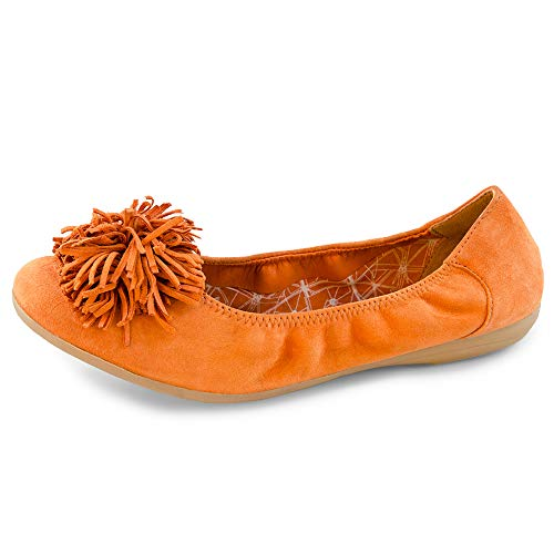 Orange Donna Shoes Ballerine Rosso Suede Marc 00809 Janine kid nZtqw7ZH0
