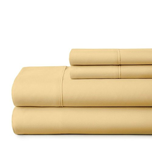 ienjoy Home Hotel Collection Luxury Soft Brushed Bed Sheet Set, Hypoallergenic, Deep Pocket, King, Gold by ienjoy Home (Image #3)