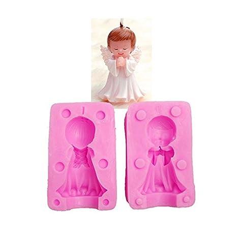 Amazon.com: Molde de silicona para vela de ángel para niños ...