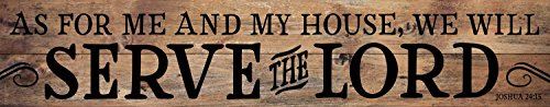 P. Graham Dunn My House Will Serve The Lord Joshua 24:15 7 x 36 Wood Pallet Wall Art Sign Plaque from P. Graham Dunn