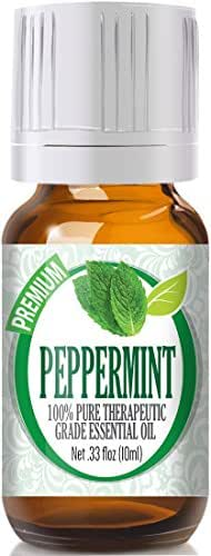 Healing Solutions Peppermint Essential Oil (100% Pure - Therapeutic Grade) - Undiluted Peppermint Oil for Diffuser, Oils to Repel Mice, for Hair Growth 10ml Bottle