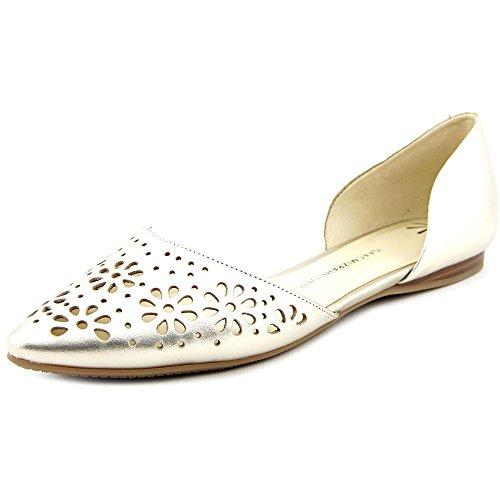 Isaac Mizrahi Live! Womens Nikki Leather Flat Shoe Gold 61ISc