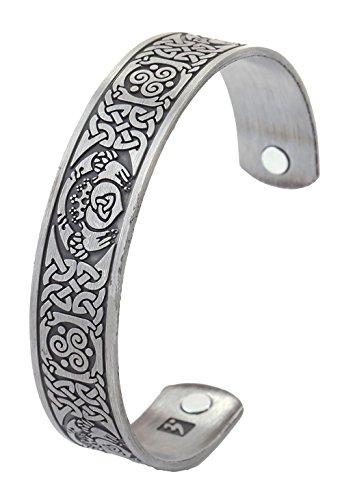 Irish Claddagh Crown Hands Heart Celtic Knot Triskele Magnetic Cuff Bracelet Men Women Gift Jewelry
