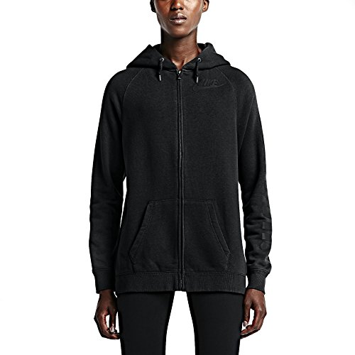 Nike Women's Rally Boyfriend Fit Full Zip Women's Hoodie X-Large Black
