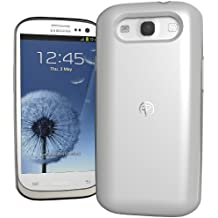 Duracell Powermat Wireless Charger Case for Samsung Galaxy SIII - Retail Packaging - White