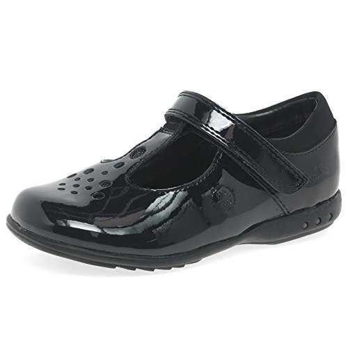 Clarks Trixi Pip Pre Girls School Shoes 10 G Black Patent