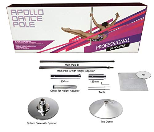 Fitness Poles - 2 in 1 Static & Spinning Professional Dance Pole Removable & Portable Dancing Pole for Home, Fitness, Exercise Workout