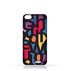 AMC Design Lava V2 Plus TPU Silicone Case With Abstract Font Seamless Pattern - Multi Color