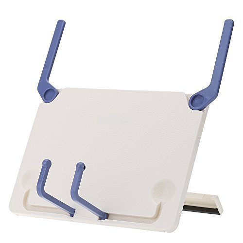 Andoer Bookend Bookstand Bookholder Frame Portable Foldable for iPad Laptop Music Score Tablature Cookbook Reading