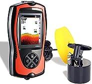 Atibin Wired Portable Fish Finder Display Handheld Monitor Depth Finder Transducer Sonar Sensor Fish Finders L