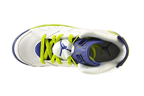 a20ca3c4fd082d Jordan 6 Retro GP Little Kids Shoes White FRC Green-Deep Royal Blue ...