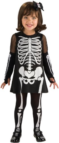 Rubie's Cute As You Can Be Skeleton Girl Toddler Costume - Toddler (1-2 Years)