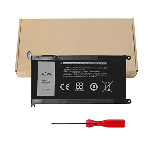 🥇 WDX0R Laptop Battery for Dell Inspiron 13 5368 5378 5379 7368 7378 Inspiron 14-7460 Inspiron 15 5565 5567 5568 5578 7560 7570 7579 7569 P58F Inspiron 17 5765 5767 FC92N 3CRH3 T2JX4 CYMGM – 42Wh/11.4V