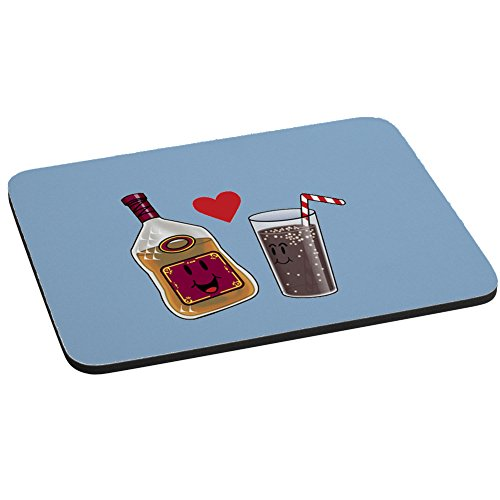 (Computer Mouse Pad - Rum and Cola Love Destined to Be Cute Humor)