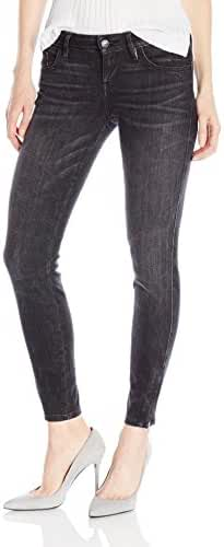 GUESS Women's Marilyn 3-Zip Jean in Washed Black