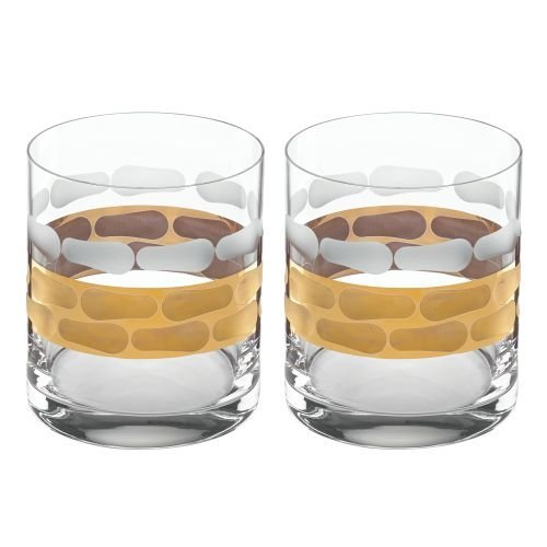 - Michael Wainwright Truro Double Old Fashioned Set Of 2, Gold