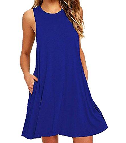 Tank Dress Tunic Jaycargogo Line Womens Sleeveless A 2 Summer wqF0wf