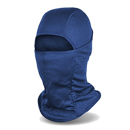 Balaclava Windproof Ski Mask Cold Weather Face Mask Motorcycle Neck Warmer or Tactical Hood, Navy Blue