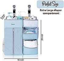 Car and Storage Crib SUNMIK Hanging Diaper Caddy Organizer Large Nursery Room