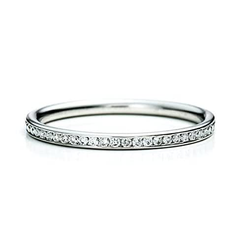 Amazon.com: Platinum Channel-Set Diamond Eternity Band