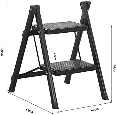 GYH Taburete Taburete Escalera Plegable Verde con Patas Antideslizantes Cocina Pequeña sillas Plegables Rojas para Adultos y niños Escalera de Tijera portátil/Plataforma de Almacenamiento/escabel: Amazon.es: Hogar