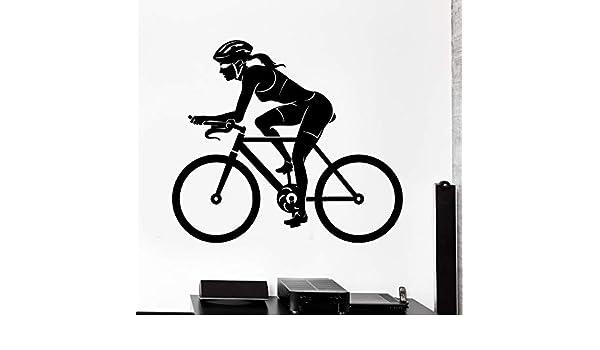 ONETOTOP Deportes Etiqueta de la Pared de la Bicicleta Mujer Mujer ...