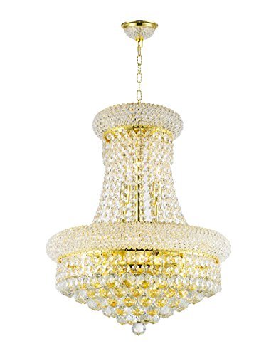 Worldwide Lighting Empire Collection 8 Light Gold Finish Crystal Chandelier 16