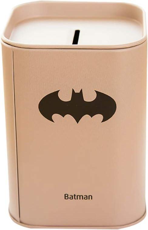 Ser buen dinero caja Batman/Transformers/Capitán América/Logo de Superman Hucha material (hojalata ahorro de dinero caja Ideal para niños Kids: Amazon.es: Oficina y papelería