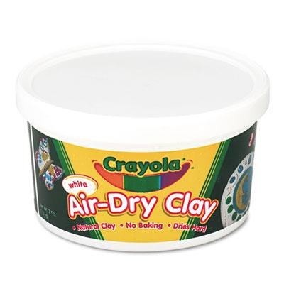 Crayola Air-Dry Clay, White, 2 1/2 Lbs, 3 CT