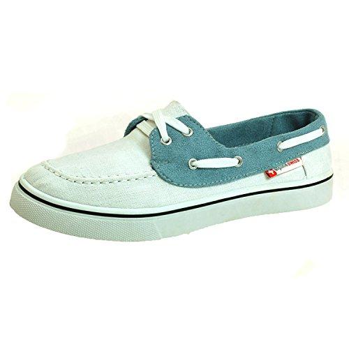 alpine swiss Men's White Antigua Boat Shoes 9 M US