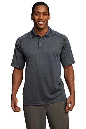 Sport-Tek Dri-Mesh Pro Polo Shirt, 2XL, Steel Grey