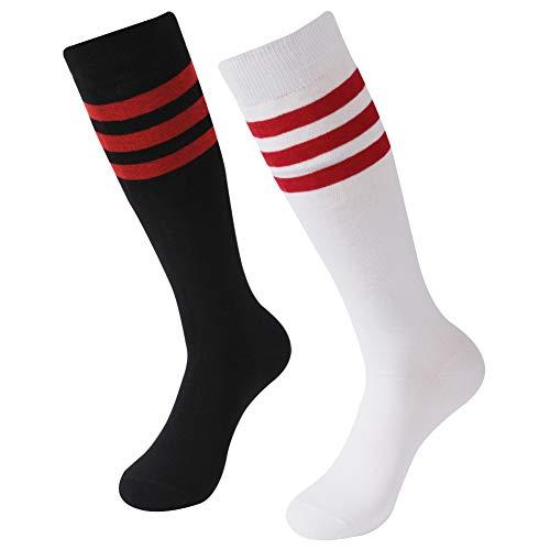 (Soccer Compression Socks, SUTTOS Winter Team Player Dress Cycling Hockey Football Sports Socks Back to School Gift Present Socks School Athletic Socks,2)