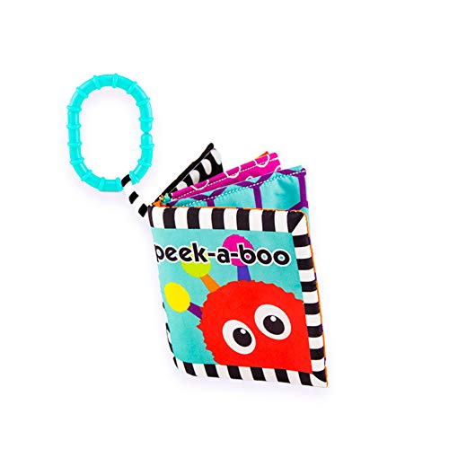 Sassy Peek-a-Boo Activity Book with Attachable Link for On-The-Go Travel | for Ages Newborn and ()