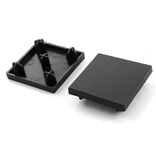 2 pezzi 40 millimetri x 40mm Cap Quadrato Nero Fine estrusione per profili in alluminio