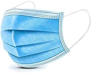 HS-ZGC 50-Piece Surgical Standard Mask, Disposable Blue Non-Woven Mask, Dust-Proof Safety Breathable Mask, Respirator with E