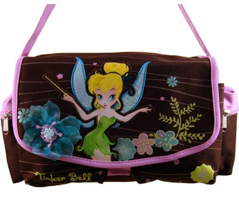 Brown and Pink Tinkerbell Purse - Tinkerbell Handbag]()