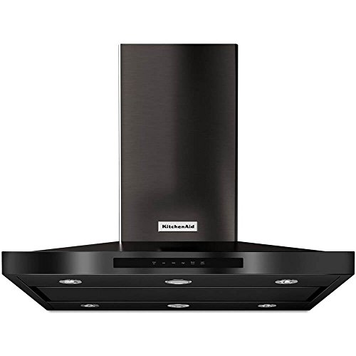KitchenAid KVIB606D 600 CFM 36 Inch Wide Stainless Steel Island Range Hood with, Black Stainless