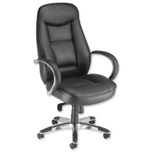 Adroit Executive Languedoc Sessel Rückseite 720mm W550X D530x 480–560mm schwarz Ref 10488–01