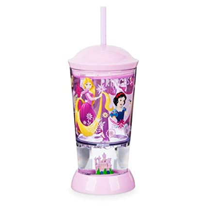 0e3d256f96a Kids cup Disney Store Princess Snowglobe Tumbler with Straw Cup 8 oz