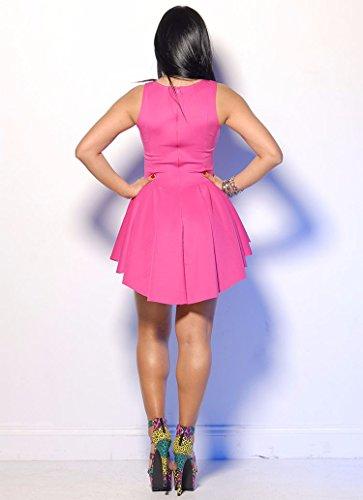 Qiyun 3008S0388 - Vestido para mujer Rosa