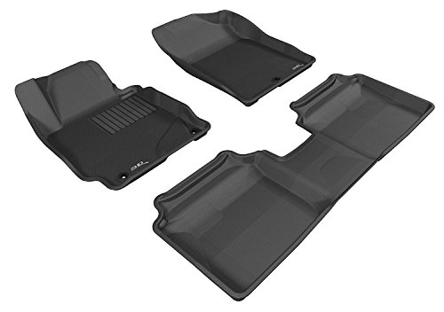 3D MAXpider Complete Set Custom Fit All-Weather Floor Mat for Select Hyundai Elantra Models – Kagu Rubber (Black)