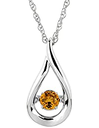 Brilliance in Motion Sterling Silver Birthstone Pendant Necklace